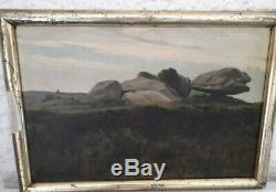 Joli tableau huile sur toile ancien 1903 signé