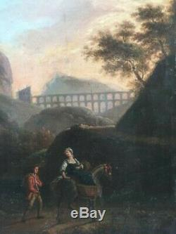 Joseph Vernet (1714-1789), le soir, tableau ancien, huile sur panneau