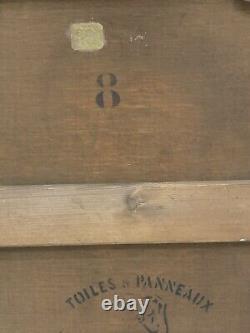 Laroche 19eme Peinture Huile Sur Toile Ancien Portrait Denfant De Qualité