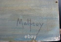 Malfroy Ancien Tableau Huile Sur Toile Port Bateau Mediterranee Martigues