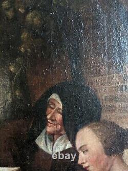 Peinture ancienne école hollandaise tableau ancien huile sur toile hollande