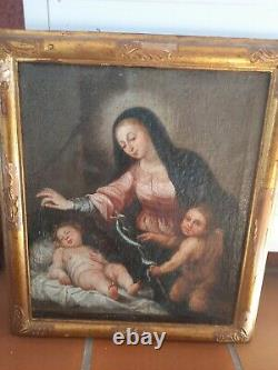 Peinture ancienne huile sur toile