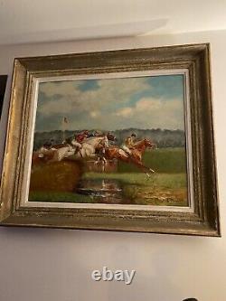 Peinture ancienne huile sur toile Eugène Péchaubès