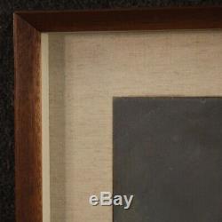 Peinture nature morte tableau signé huile sur tablette style ancien avec cadre