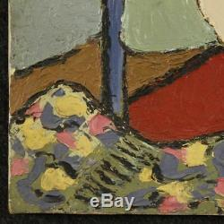 Peinture tableau huile sur toile nu de femme signé style ancien impressionniste