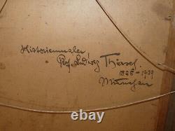 Rare ancienne huile sur carton de Ludwig Thiersch (1825-1909) Munich München