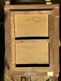 SAVIGNY pseudo HENRI MALFROY TRES JOLIE MARINE HUILE SUR TOILE ANCIENNE