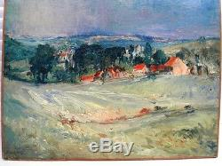 Sourdillon Berthe (1895-1976) La Vallée Verte Huile Ancienne Sur Toile De 1930