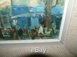 Superbe ancienne Peinture huile sur toile de Claude Marin Paris Montmartre