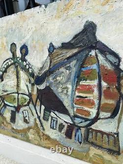 TABLEAU ANCIEN HUILE sur TOILE Signé Henri Baviera Saint Paul Ou Nice