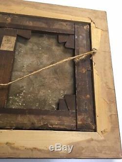 TABLEAU ANCIEN PAYSAGE HUILE SUR TOILE FIN XIXe IMPRESSIONNISME A RESTAURER