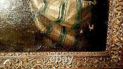 TABLEAU ANCIEN PORTRAIT FEMME ÉPOQUE XVIIIème HUILE SUR TOILE