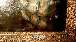 TABLEAU ANCIEN PORTRAIT XVIIIème FEMME DE QUALITÉ HUILLE SUR TOILE