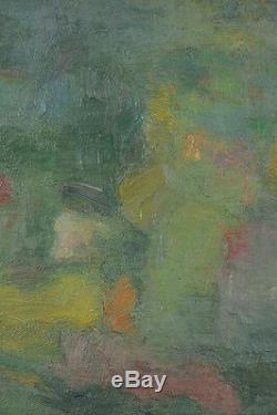 TABLEAU ancien huile sur toile ABSTRAIT APRÉS GUERRE école Française à attribuer