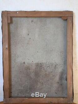 Tableau Ancien Huile sur Toile Composition Abstraite Olivier DEBRÉ Circa 1950