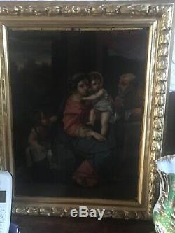 Tableau Ancien Peinture Huile Sur Cuivre D Après Annibale CARRACHE. (1560-1609)