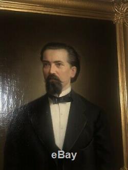 Tableau Ancien Portrait Aristocrate Huile Sur Toile Galerie Assindia Essen