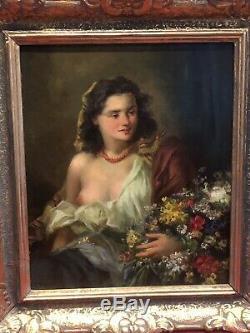 Tableau Ancien Portrait Marcel Krasicky Huile Sur Panneau