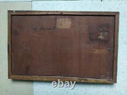 Tableau Ancien Vers 1900 Marine Huile Sur Panneau Seine Maritime Signé
