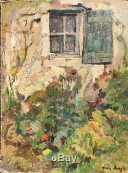 Tableau Ancien XIXe de Louis Berges (1878-1956) Huile Sur Carton Ariège