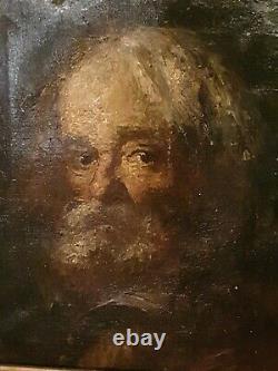 Tableau Ancien, huile sur toile portrait d'homme