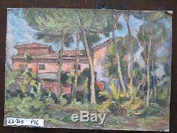 Tableau En Style Impressionniste Peinture Ancienne à Huile Sur Table Paysage p16
