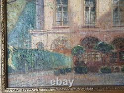 Tableau ancien Hotel de la BRINVILLIERS Huile sur Toile signée André NIVARD