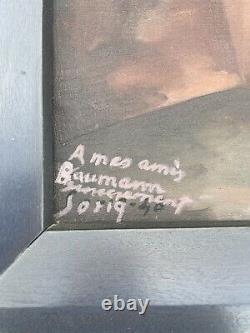 Tableau ancien Huile Sur Toile Signé Salvador Soria