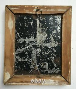 Tableau ancien, Huile sur plaque de métal, Femme dénudée, XIXe ou avant