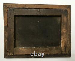 Tableau ancien, Huile sur toile, Concert Champêtre, Encadré, XIXe