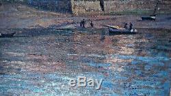 Tableau ancien Huile sur toile- Fernand PINAL- Le Guildo 1923