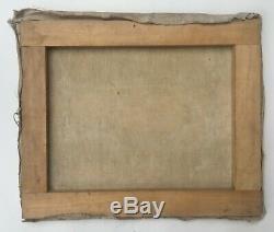 Tableau ancien, Huile sur toile, Paysage méditerranéen, Début XXe