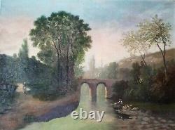 Tableau ancien. Huile sur toile signée L. HENRY pour Lucien HENRY