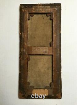 Tableau ancien, P-J Gervais, Huile sur toile, Nu, Femme à la fontaine, Fin XIXe