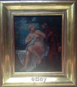 Tableau ancien Paul DANGMANN (1899-1947) Nu Féminin Huile sur panneau Signé