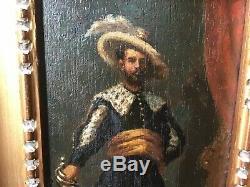 Tableau ancien huile sur bois