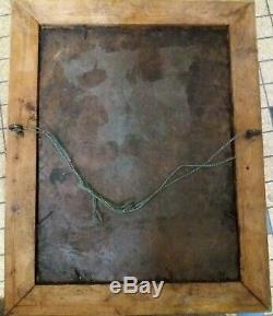 Tableau ancien huile sur cuivre