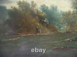 Tableau ancien, huile sur panneau, Barbizon, Fontainebleau, 19éme