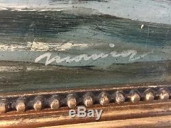 Tableau ancien huile sur panneau à définir (XIXe-s) lac Léman à Lausanne