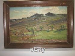 Tableau ancien huile sur toile Auguste ROURE