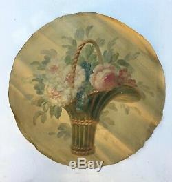 Tableau ancien, huile sur toile, Bouquet de fleurs 1/4, XIXe