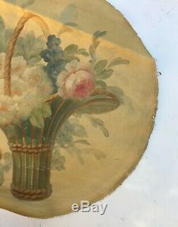 Tableau ancien, huile sur toile, Bouquet de fleurs 3/4, XIXe