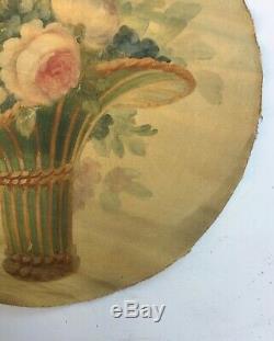 Tableau ancien, huile sur toile, Bouquet de fleurs 4/4, XIXe