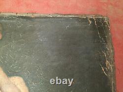 Tableau ancien huile sur toile INCONNU (XIXe-s) homme assis