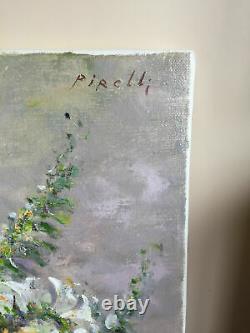 Tableau ancien huile sur toile PIRELLI (XXe-s) nature morte (coté) certificat