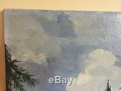 Tableau ancien huile sur toile à définir (début XXe-s) chateau de josselin