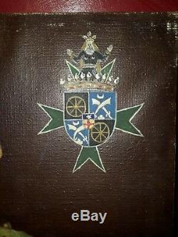 Tableau ancien huile sur toile notable français portant l'ordre de St Lazare