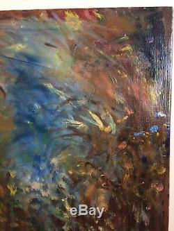 Tableau ancien huile sur toile on dirait TERECHKOVITCH Kostia (XXe-s) paysage