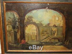 Tableau ancien huile sur toile pas de signature peinture ancienne