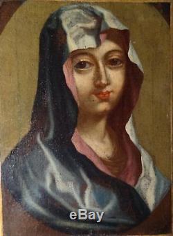 Tableau ancien huile sur toile portrait